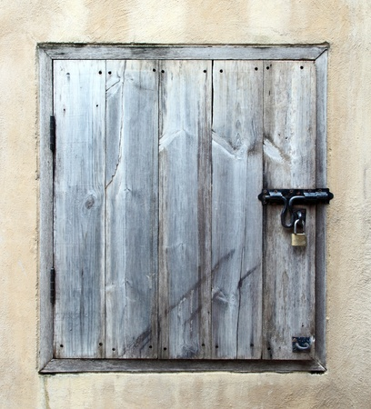 old wooden small door photo