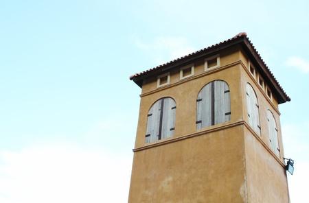 building italian style with sky photo