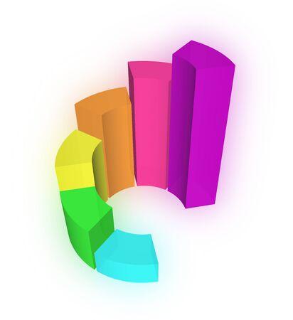 3D Growth bar graph Stock Photo - 13868779