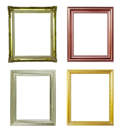 4 picture frame on white background photo