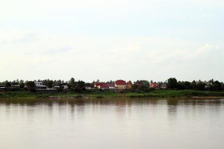 mekong: mekong river in laos Stock Photo