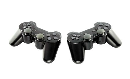 gaming console on white background photo