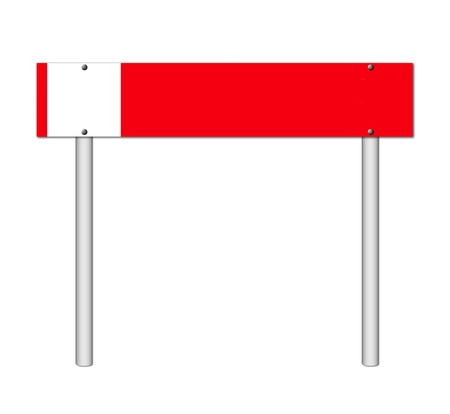 red sign on white background photo