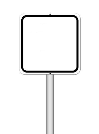 blank sign on white background photo