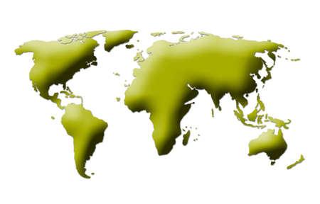world map on white background photo