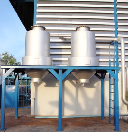 water storage tank in factory photo