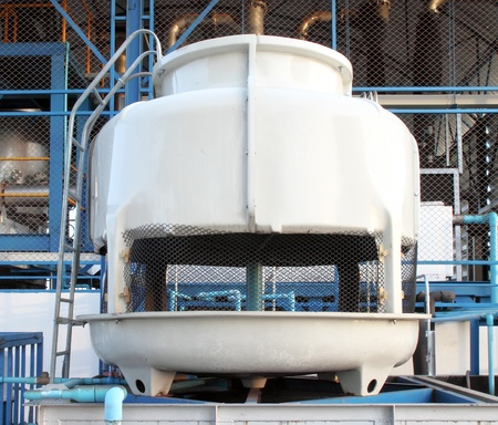 small water cooling tower in factory photo