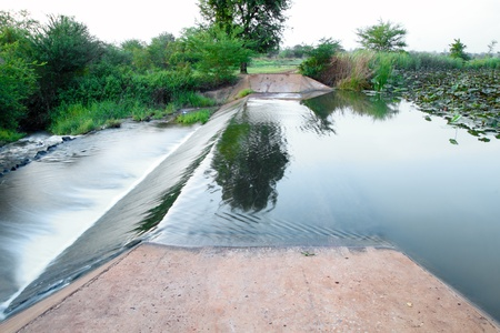 weir: small dam in country side