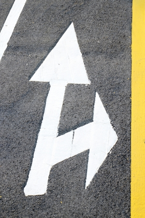 Street, road, arrow direction photo