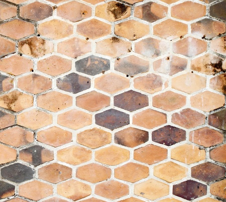 The background image of hexagonal clay tiles Stock Photo - 14660689