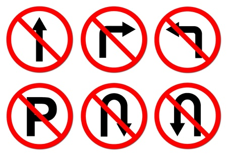 6 Do not do on red circle traffic sign on white