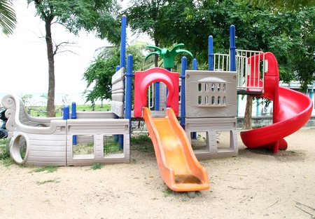 playgrounds with out children in park photo