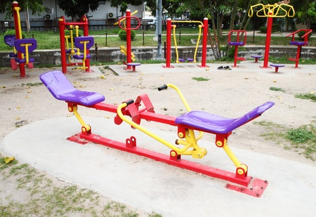 Playground for exercise  in the park photo