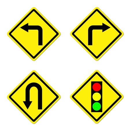4 warning sign on white background photo