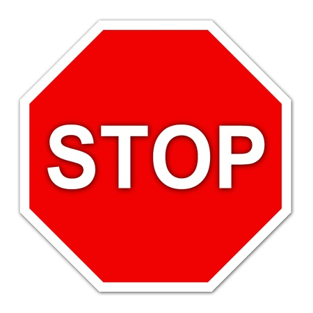 stop sign on white background Stock Photo - 14957281