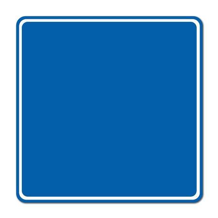 blue blank sign on white background Stock Photo