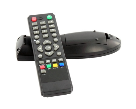 TV remote control on a white background photo