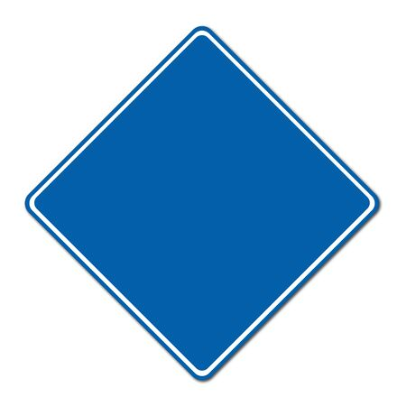 blue blank sign on white background photo