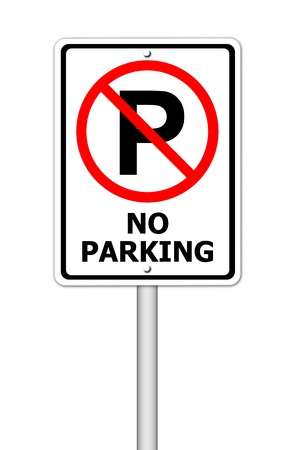 restricted icon: No parking sign on white background