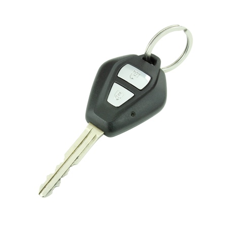 car remote key on white background photo