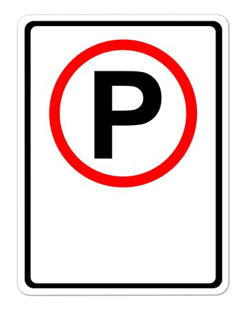 parking sign blank for text on white Stock Photo - 16289963