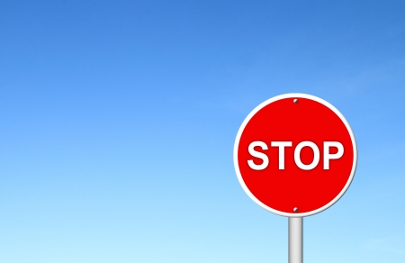 stop sign with blue sky blank for text Stock Photo - 16436568