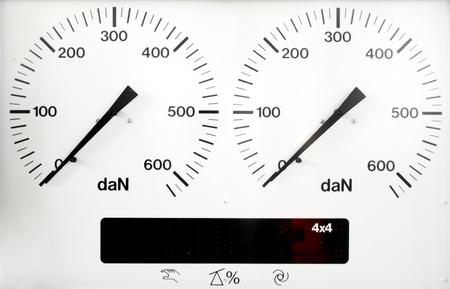 braking: panel control meter of car braking test  offline status