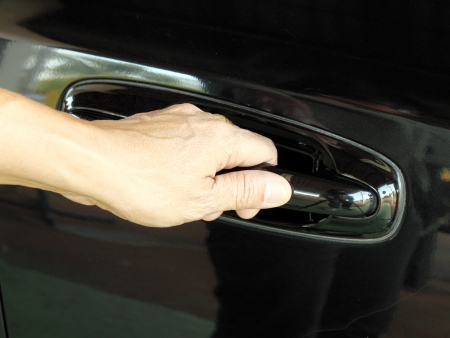 a hand is going to pull a car Stock Photo - 16502644