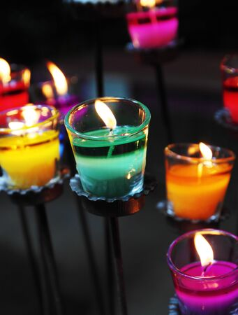 colorful of aromatic candle photo