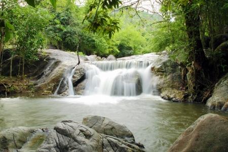 layers levels: Kao Chon waterfall, Suan Phueng, Ratchaburi, Thailand Stock Photo