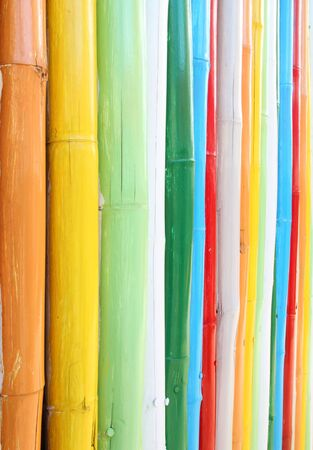 colorful of bamboo wall texture background photo