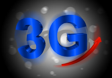 3G symbol with arrow photo
