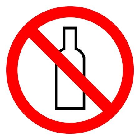 no alcohol sign on white background photo
