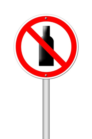not permitted: no alcohol sign on white background