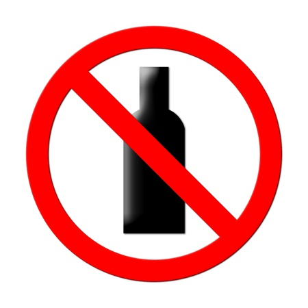 no alcohol sign on white background Stock Photo - 17103976