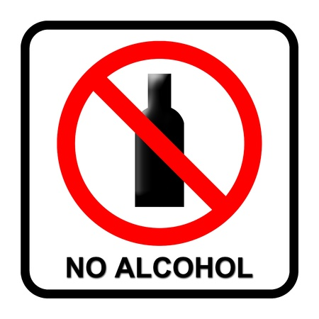 no alcohol sign on white background photo