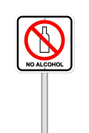 no alcohol sign on white background Stock Photo - 17212315