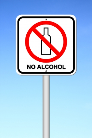 no alcohol sign with blue sky Stock Photo - 17212331
