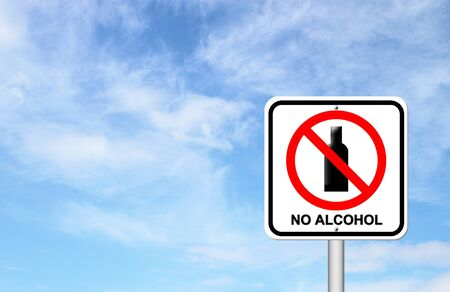 no alcohol sign with blue sky blank for text Stock Photo - 17204158