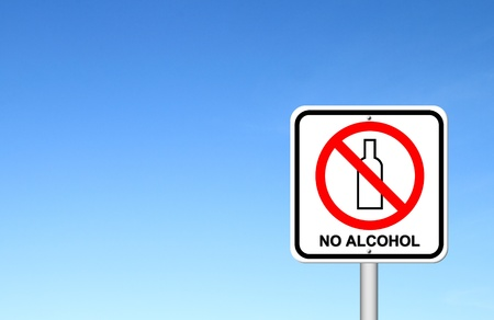 no alcohol sign with blue sky blank for text Stock Photo - 17212322