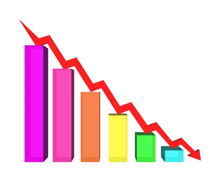 business failure graph down arrow Stock Photo - 17306741