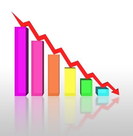 business failure graph down arrow Stock Photo - 17306748