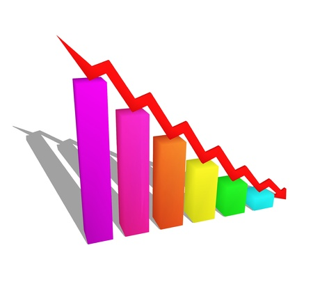 business failure graph down arrow Stock Photo - 17306743