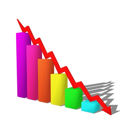 business failure graph down arrow photo