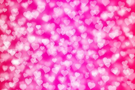 magic light hearts bokeh as background photo