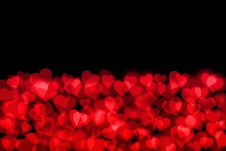 abstract background with hearts and place for text photo