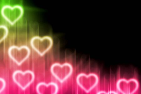 amur: abstract background with magic light heart blank for text Stock Photo