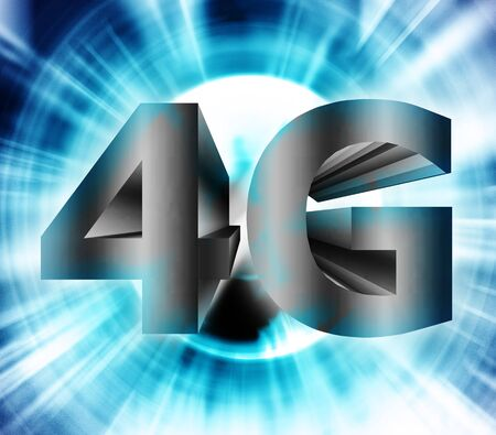 compatibility: abstract of 4G network symbol