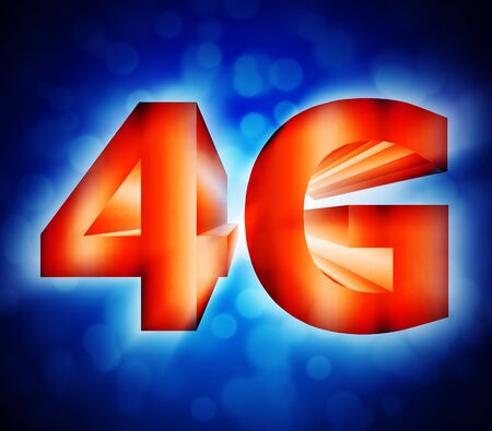abstract of 4G network symbol Stock Photo - 17812136