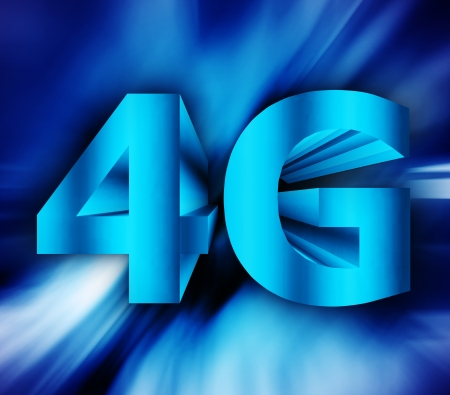 abstract of 4G network symbol photo